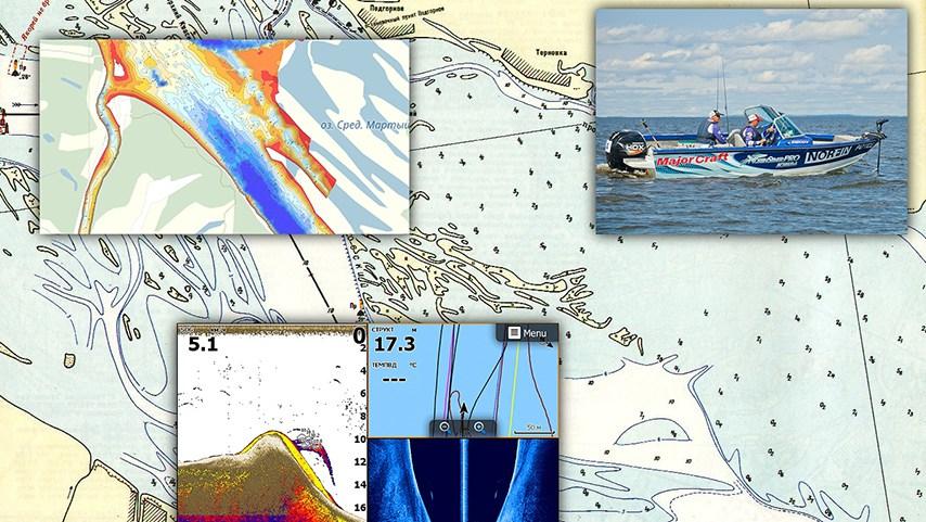 Электроника для рыбалки, работа с картами
